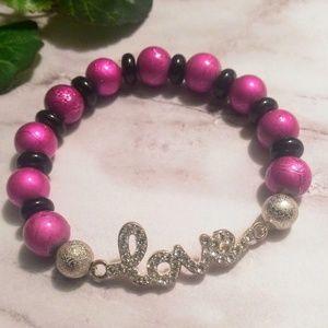 "Jewelry - 🎉3 for $10🎉 Pink ""Love"" Bracelet"